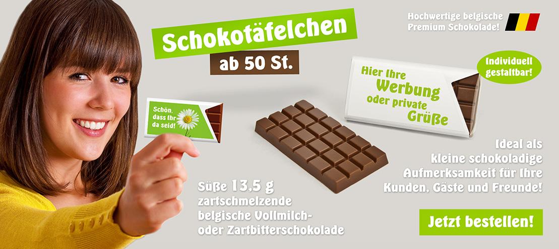 bedruckte Schokolade